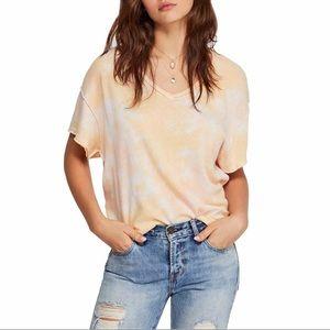 Free People Tie Dye T-shirt All Mine Cut Out Back